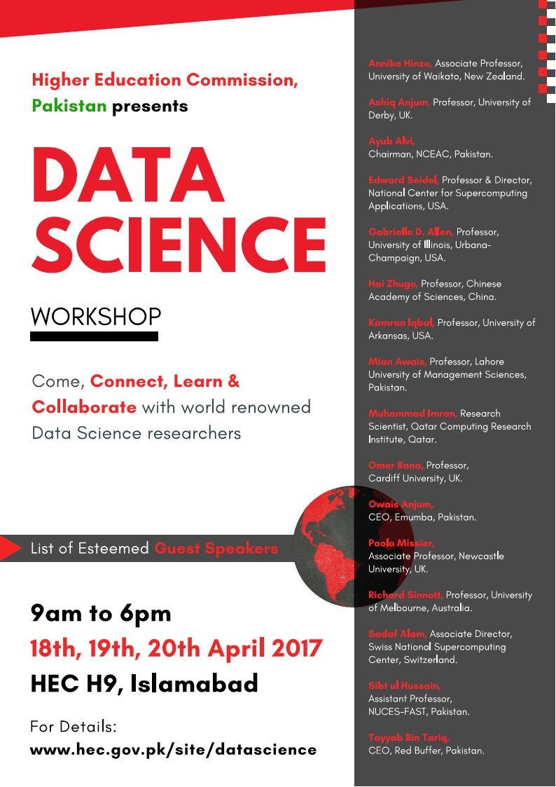 HEC Data Science Workshop from 18 - 20 April 2017