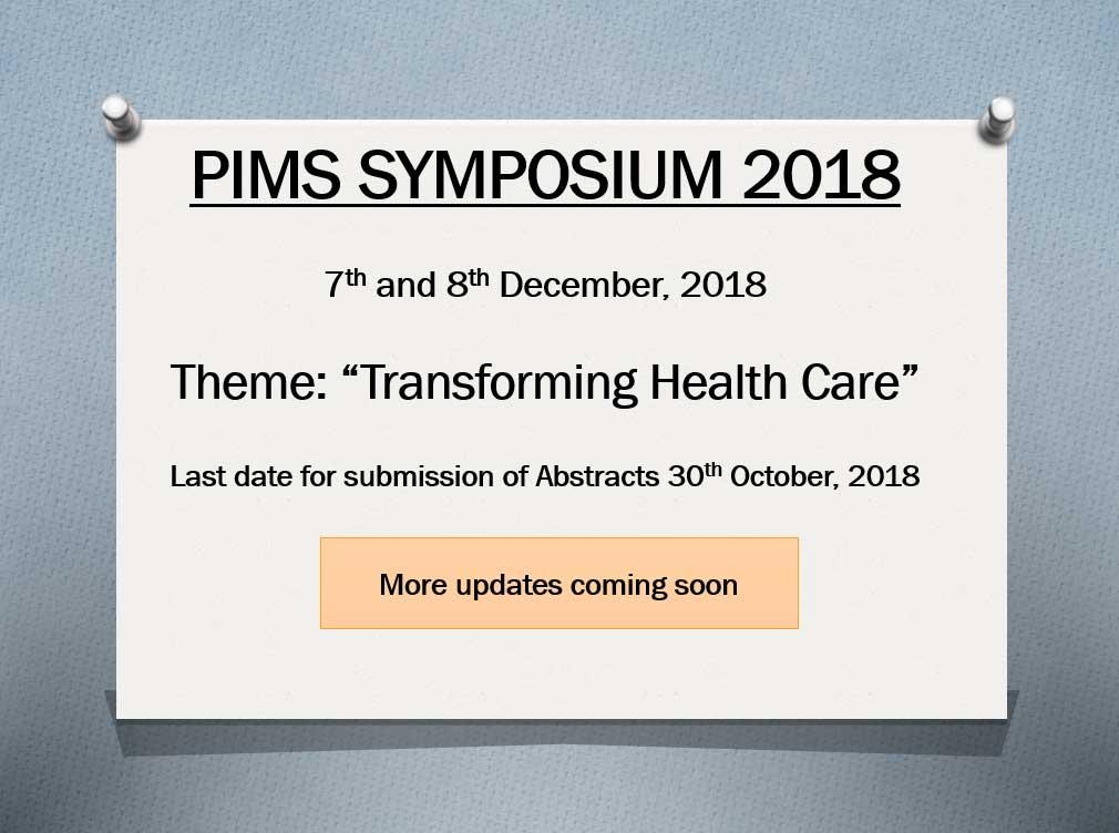 PIMS Symposium 2018
