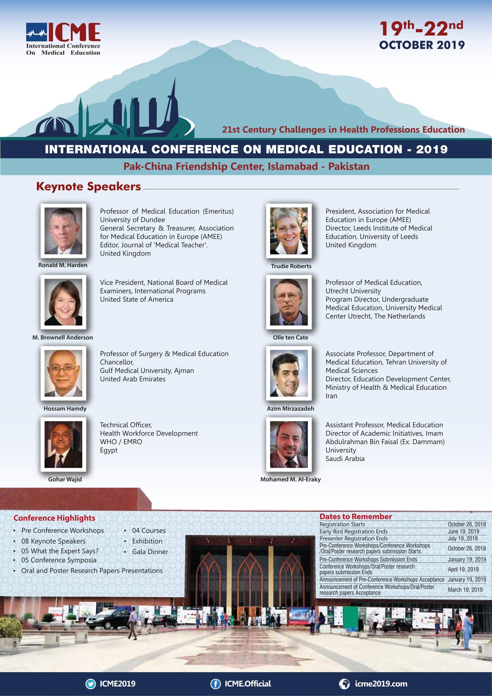 International Conference on Medical Education - 2019