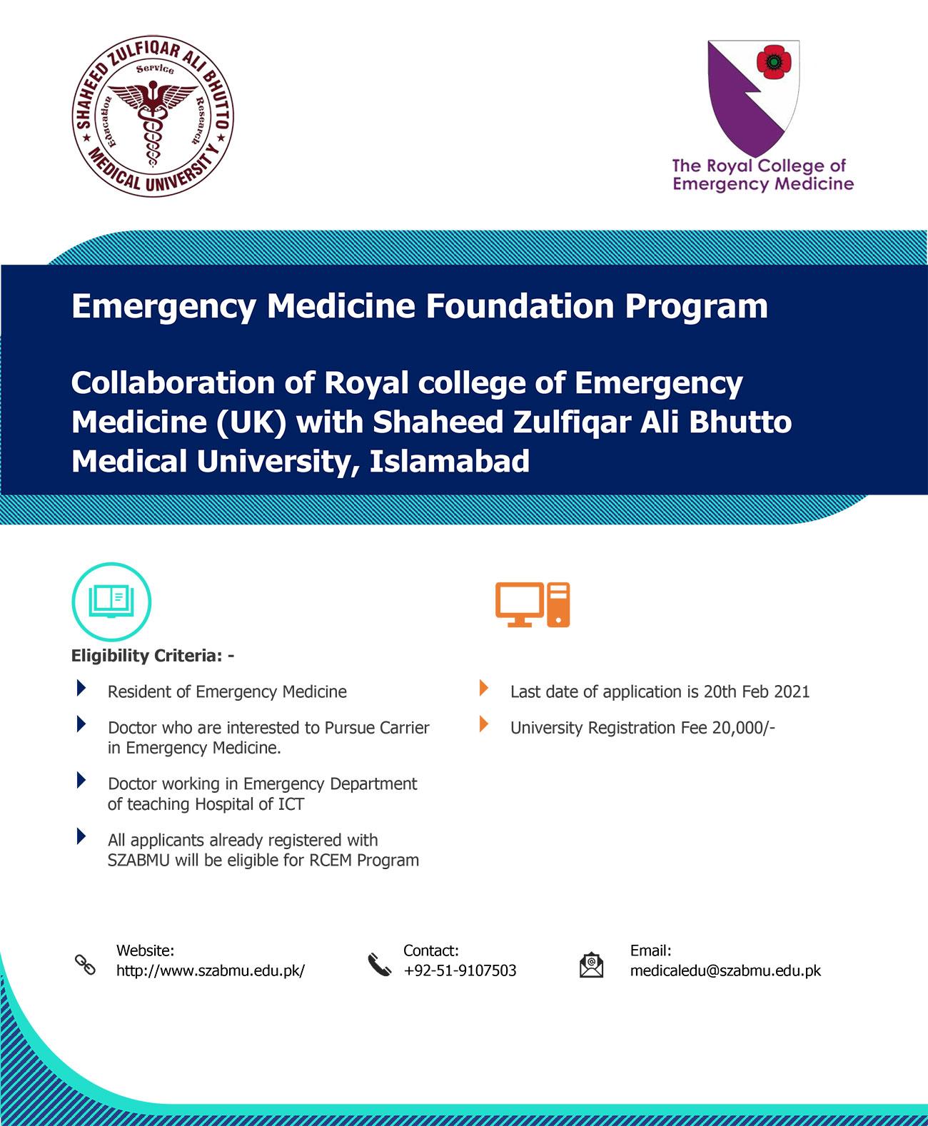 The Emergency Medicine Foundation Programme